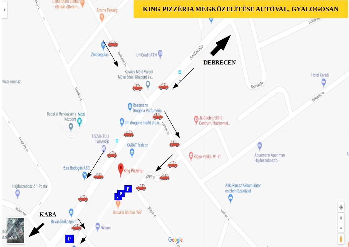 Térkép pizza